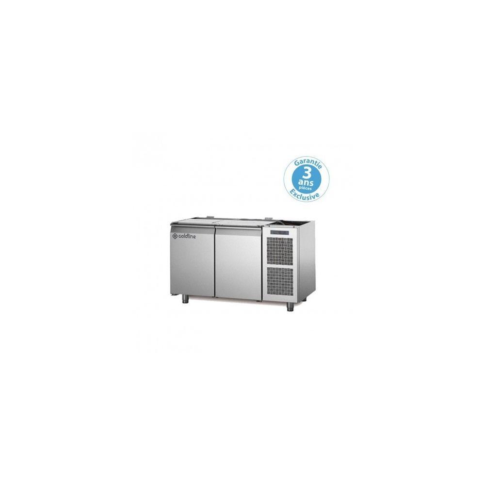 Materiel Chr Pro Table réfrigérée négative - groupe logé - 2 portes - 260 litres - profondeur 800 - 600 x 400 - sans dessus -