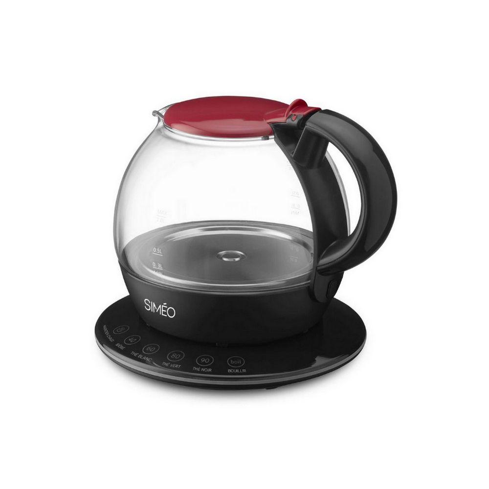 Simeo simeo - théière électrique 1l 2200w rouge/noir - 500981086