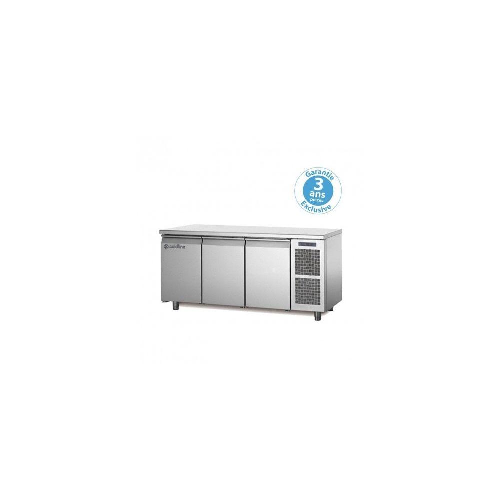 Materiel Chr Pro Table réfrigérée négative - groupe logé - 3 portes - 415 litres - profondeur 800 - 600 x 400 - avec dessus -