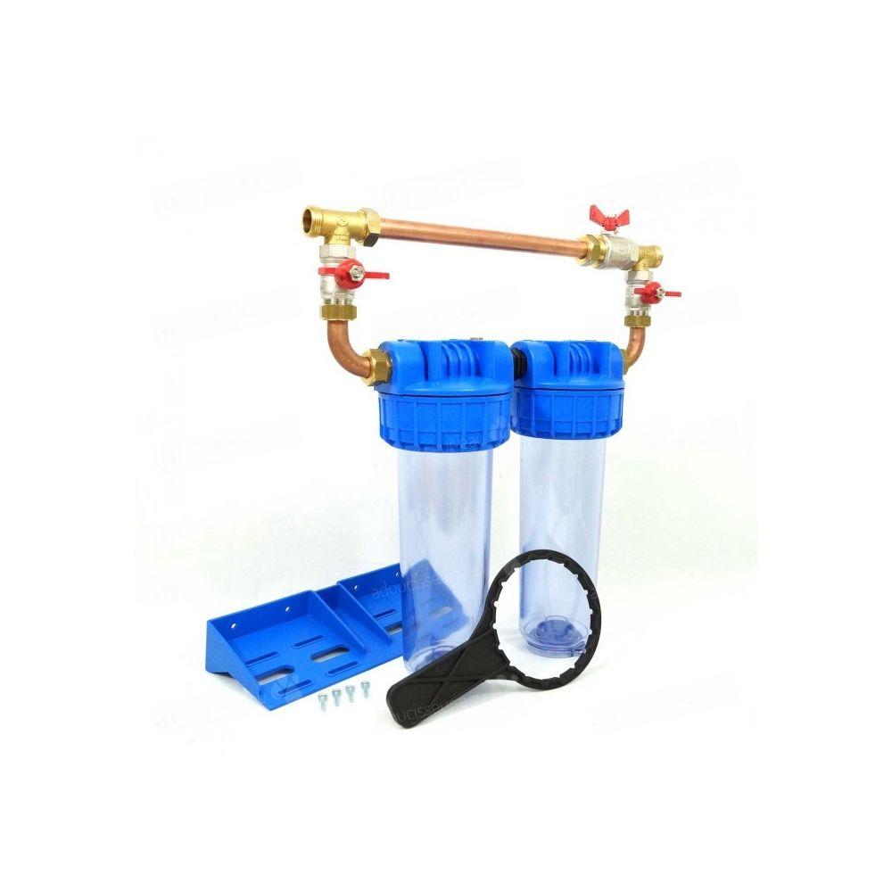 Toodo Double porte filtre à eau 93/4 - 26/34F avec by-pass