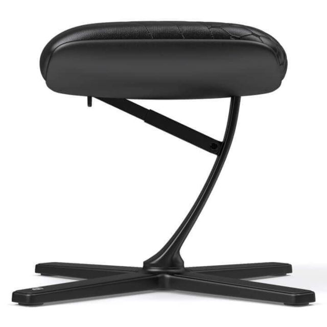 Noblechairs - FOOTREST véritable cuir - Noir - Chaise gamer