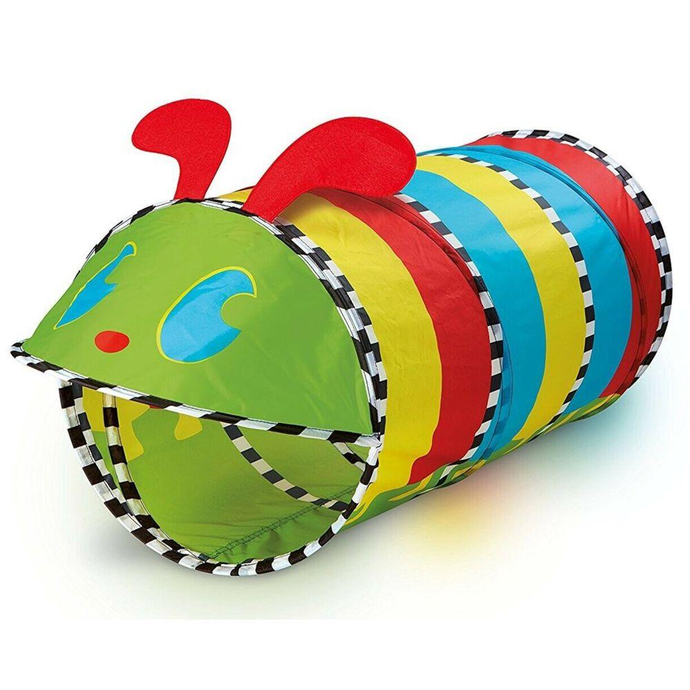 Pegane Tunnel de jeu pop-up coloré en polyester - Dim : 80 x 42 x 42 cm -PEGANE-
