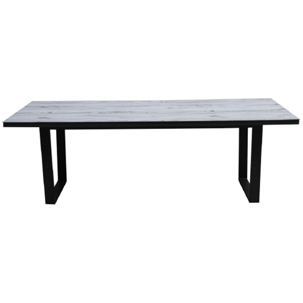 Pegane Table de jardin en aluminium gris et céramique - 230 x 100 x 75 cm -PEGANE-