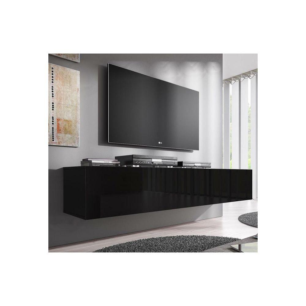Design Ameublement Meuble TV modèle Forli XL (160 cm) noir