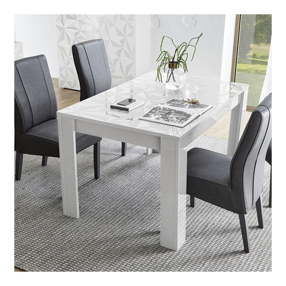Sofamobili Table 180 cm blanc laqué design ANTONIO