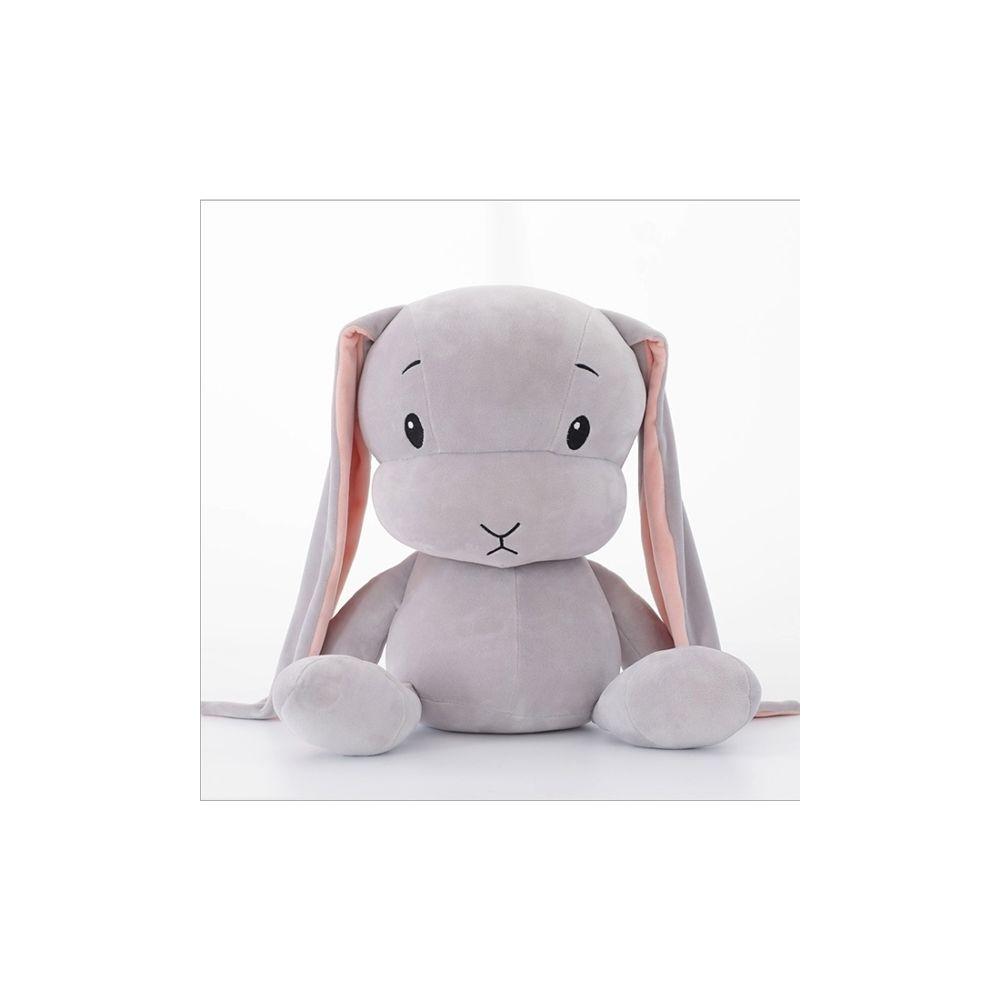 Wewoo Restez mignon lapin en peluche poupée bébé sommeil jouethauteur 50cm gris