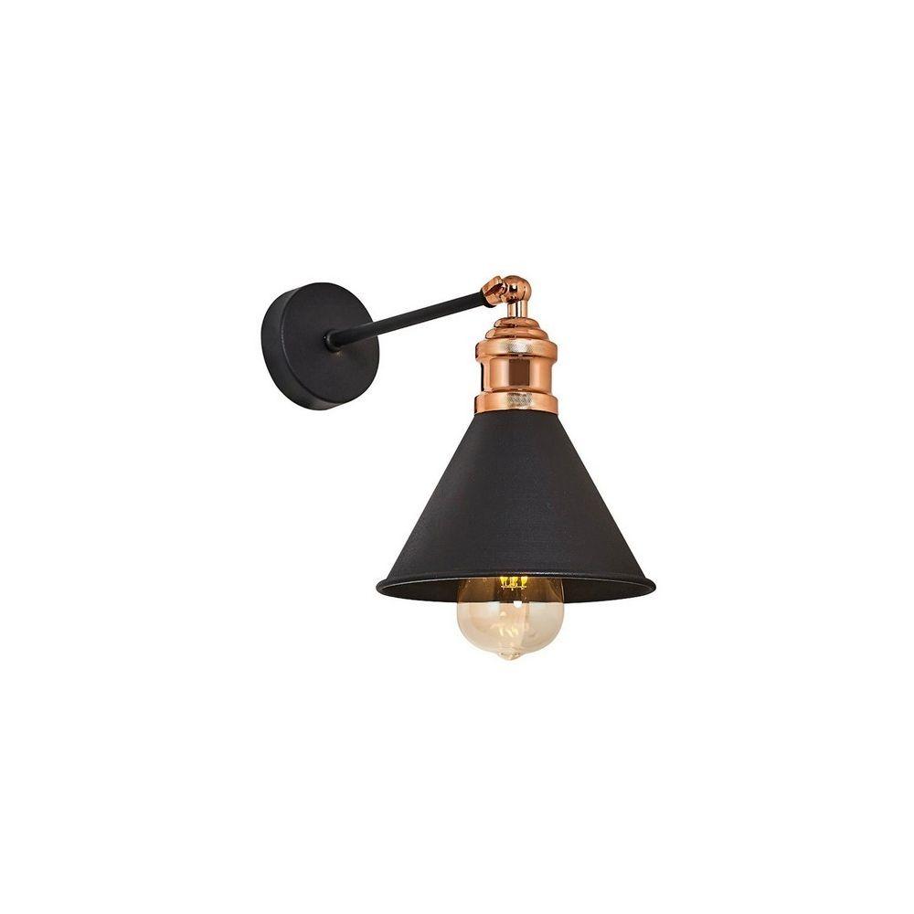 Homemania HOMEMANIA Lampe Murale Zil Applique - Noir en Métal, 17 x 26 x 28 cm, 1 x E27, 40W