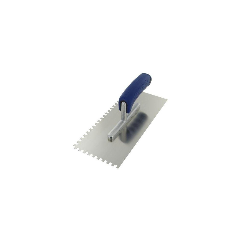 Outibat Platoir lame acier inoxydable dentée sur deux cotés ls denture de 6 x 6
