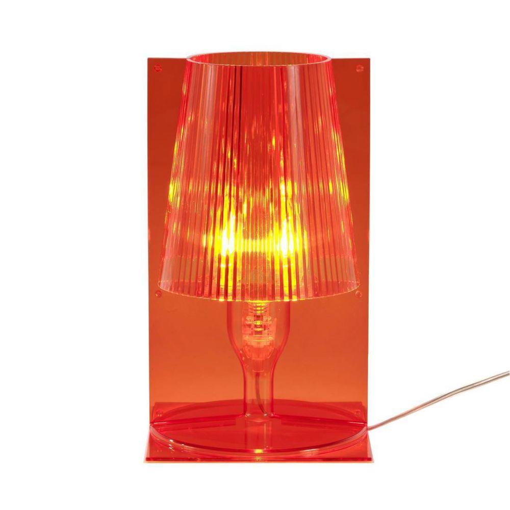 Kartell TAKE - Lampe à poser Orange translucide H30cm