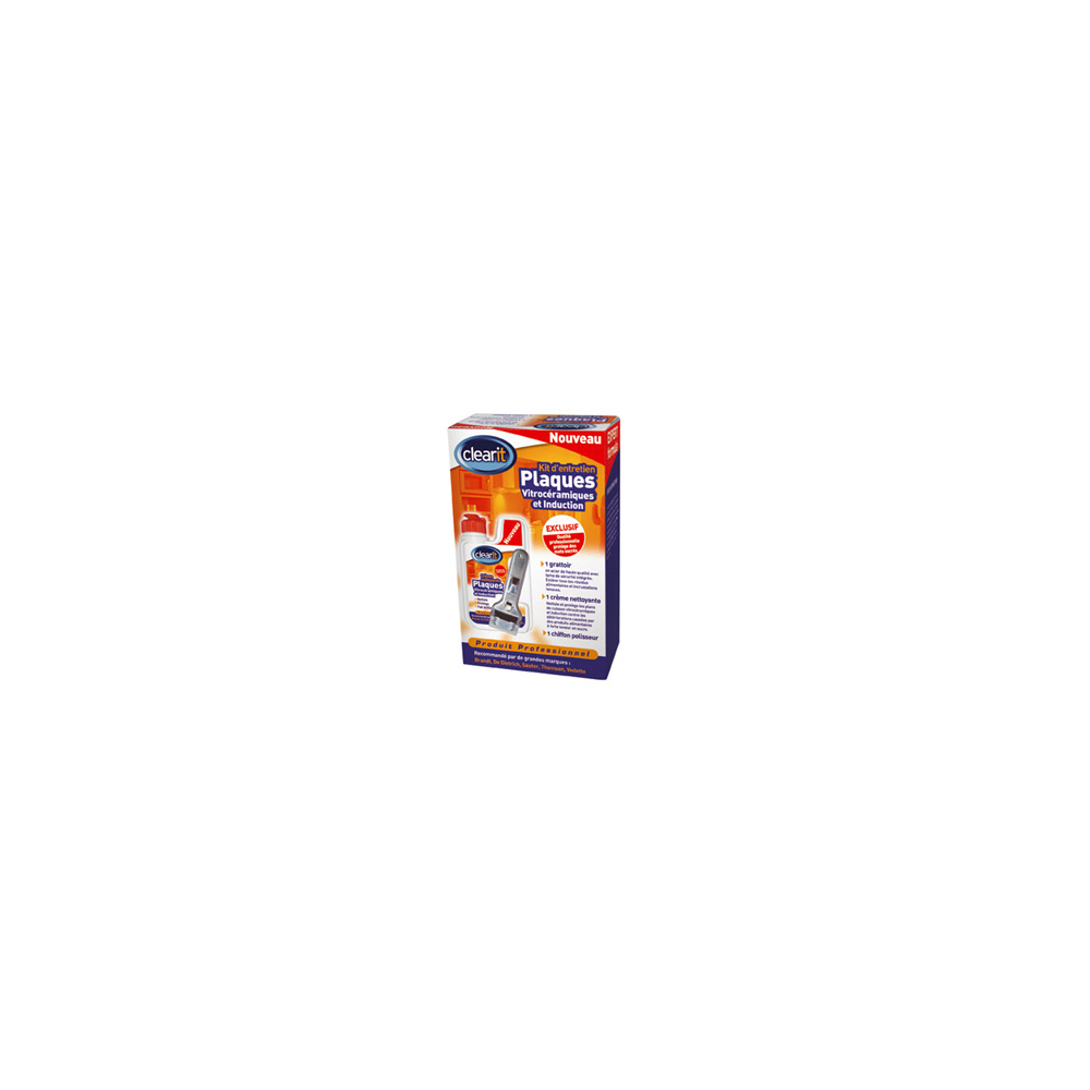 Clear It KIT ENTRETIEN PLAQUES VITRO CLEARIT POUR ENTRETIEN - 74X8596