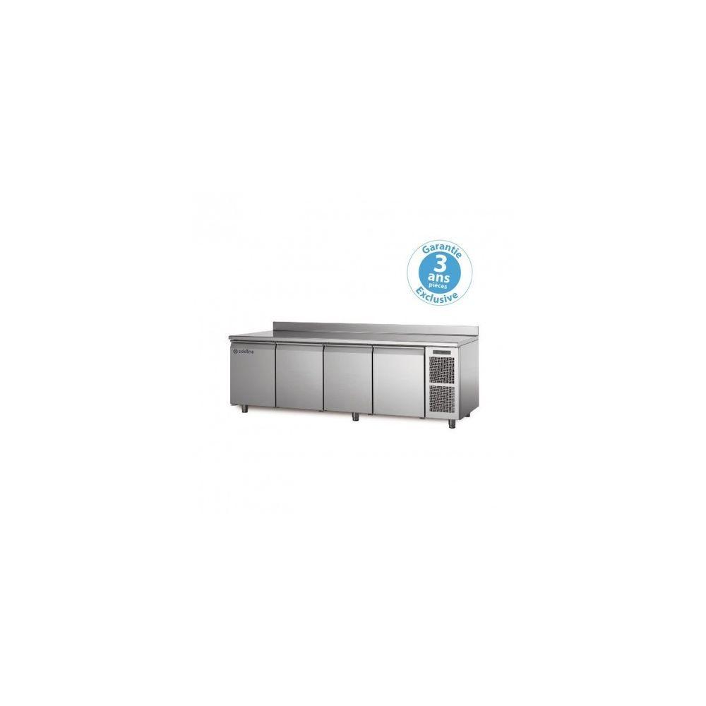 Materiel Chr Pro Table réfrigérée négative- groupe logé - 4 portes - 560 litres - profondeur 800 - 600 x 400 - avec dosseret -
