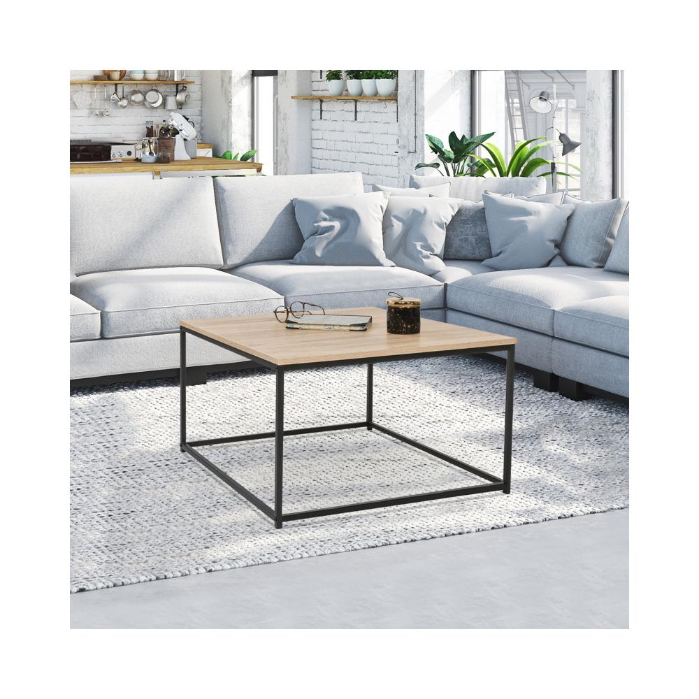 Idmarket Table basse carrée DETROIT design industriel