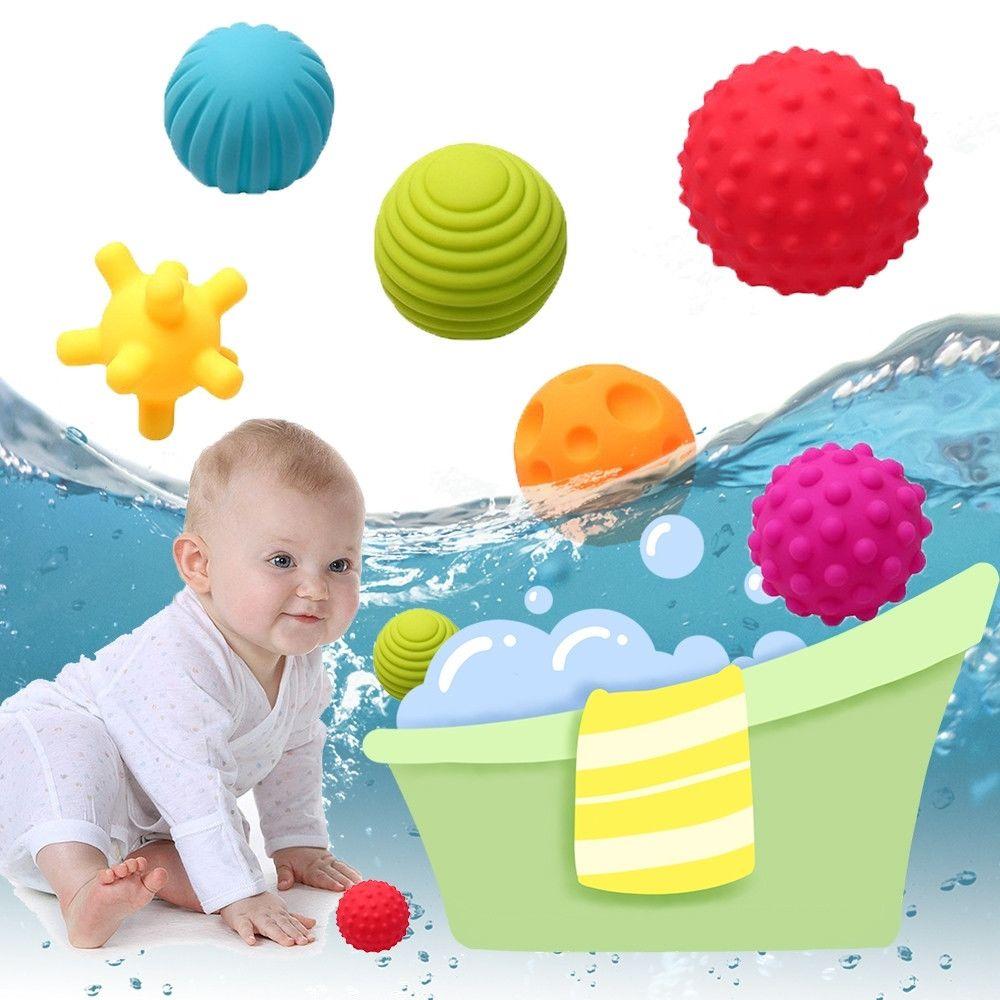 Wewoo 6 en 1 bébé baignoire caoutchouc balle molle jouets éducatifs