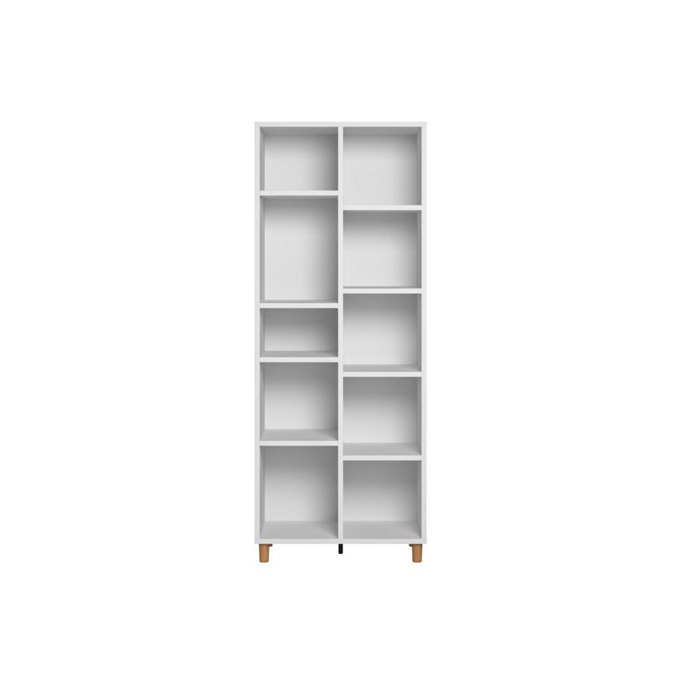 Miliboo Bibliothèque scandinave blanc et bois JIM