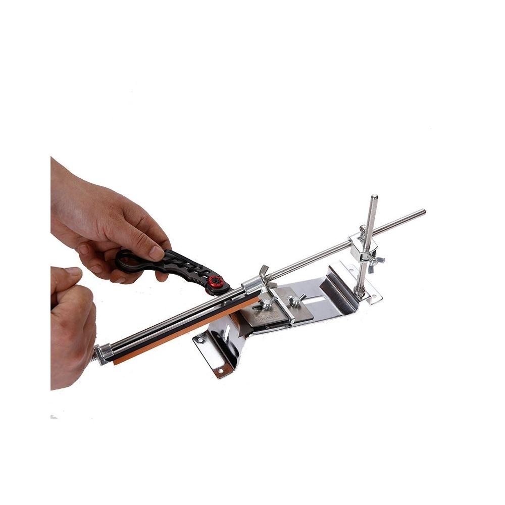 Wewoo Aiguiseur Affûteur de couteaux à angle fixe en métal avec pierres