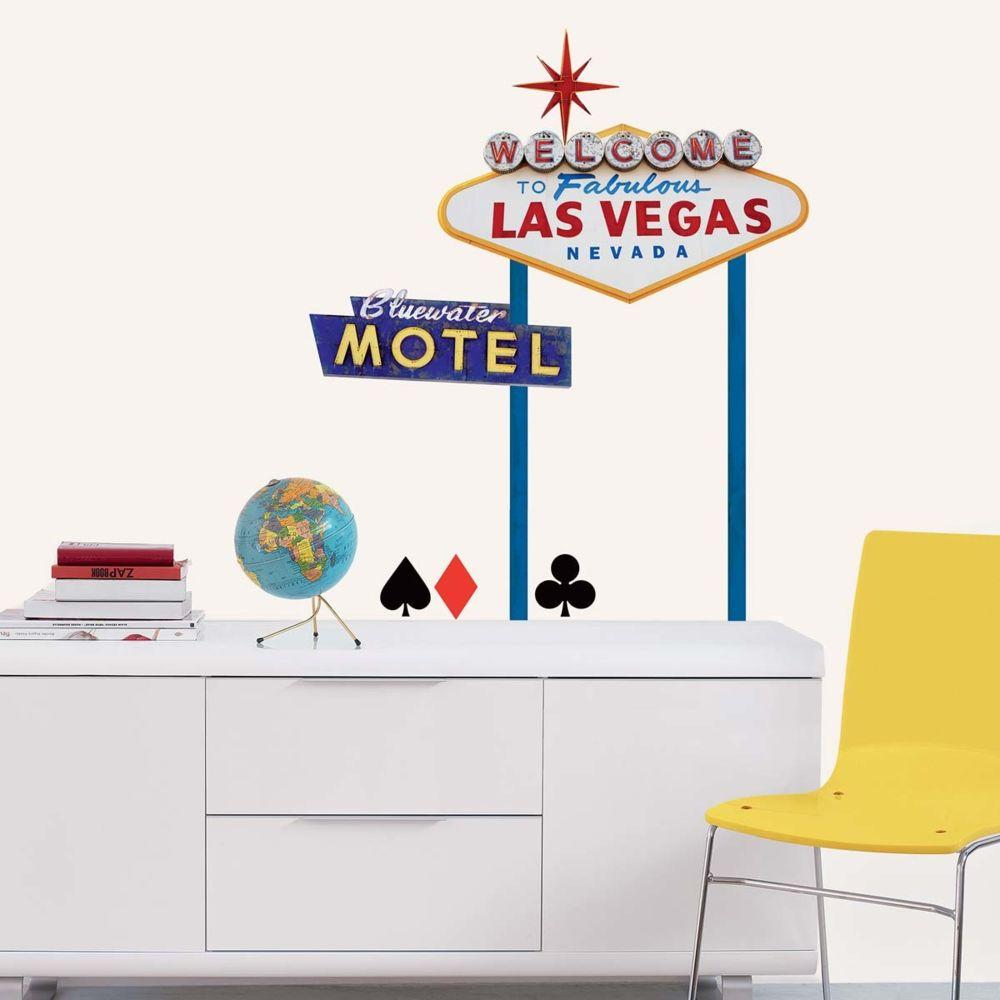 Nouvelles Images Sticker mural Panneaux Welcome to Fabulous Las Veg