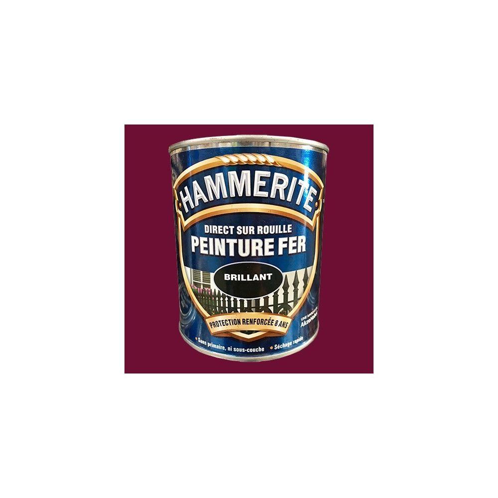Hammerite HAMMERITE Peinture Fer Direct sur Rouille Rouge Basque Brillant