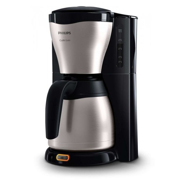 Philips - PHILIPS Cafetière Isotherme 10 - 15 Tasses Noir / Inox HD7546/20 - Philips