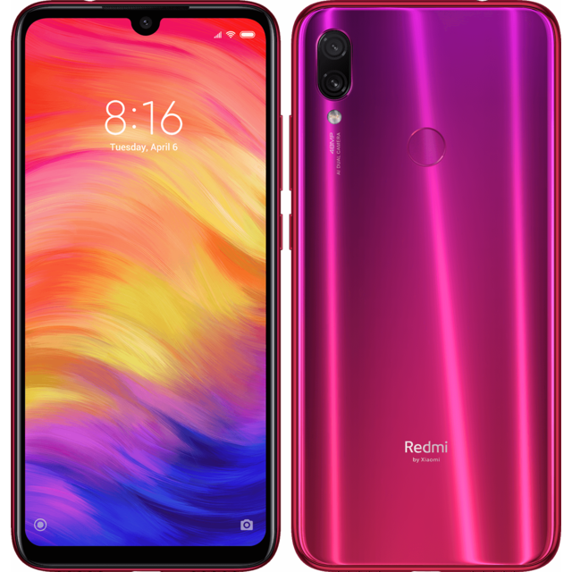 XIAOMI - Redmi Note 7 - 4 / 64 Go - Rouge Nébuleuse - Smartphone Android 6.3 (16,0 cm)
