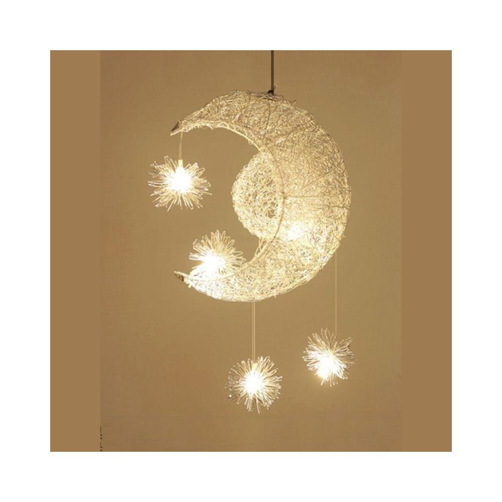 Wewoo Lampe suspendue Luminaire Salon Simple Chandelier Chambre d'enfant Restaurant Creative Star Moon Combinaison Rêve Warm L