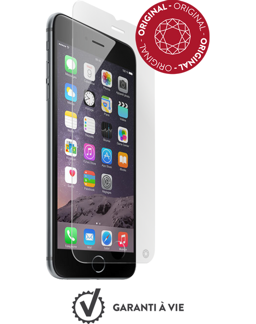 Force Glass - Verre trempé iPhone 6s Plus - Transparent - Protection écran smartphone