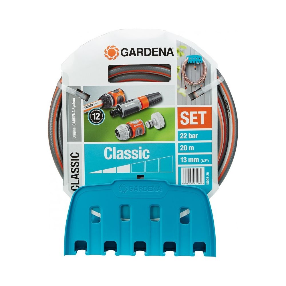 Gardena Gardena Porte-tuyau mural Classic Orange/Gris 30 x 20 x 20 cm 18005-20