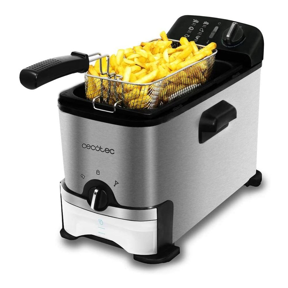 Cecotec friteuse électrique de 3L 2000W gris noir