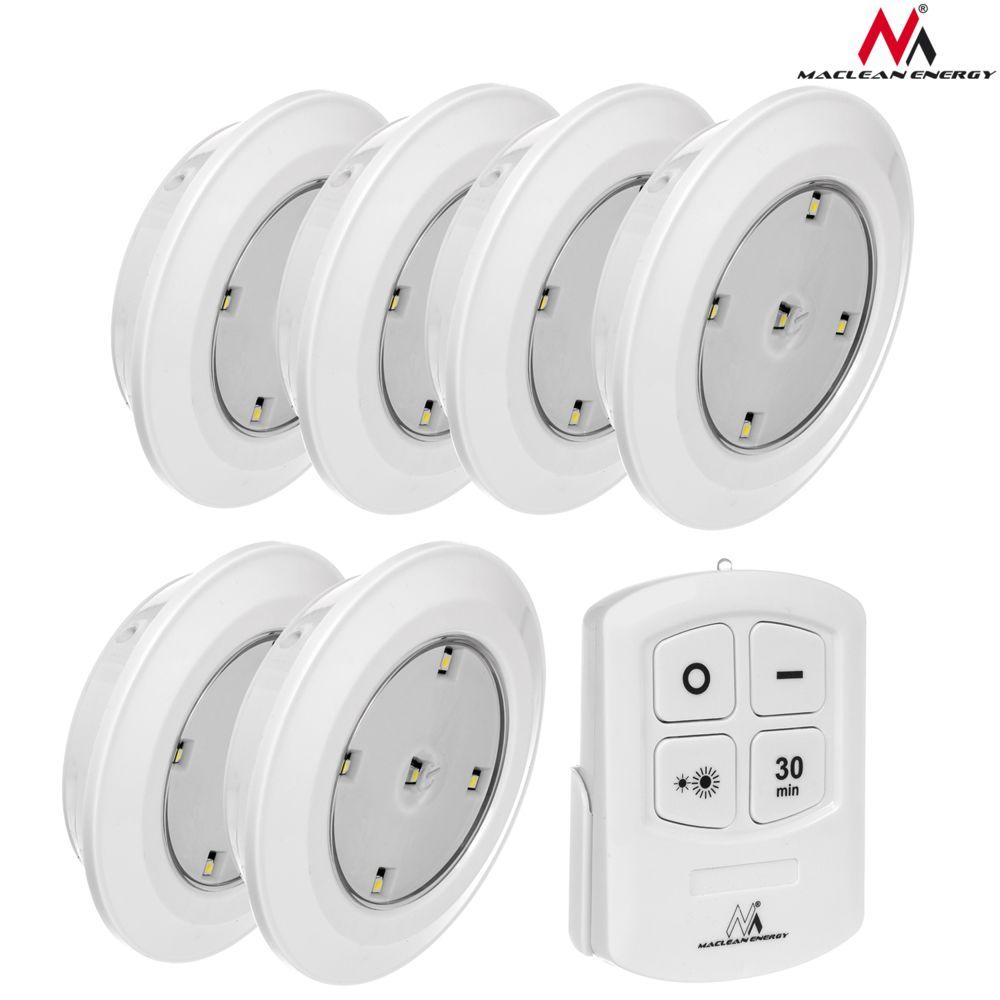 Maclean Lampe LED sans fil télécommandée 6 pièces pile 3xAAA MCE165
