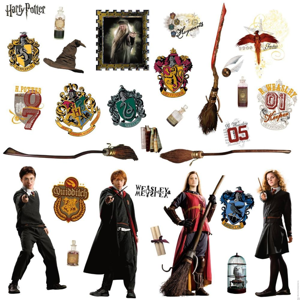 Roommates Stickers repositionnables Harry Potter 25,4CM X 45,7CM