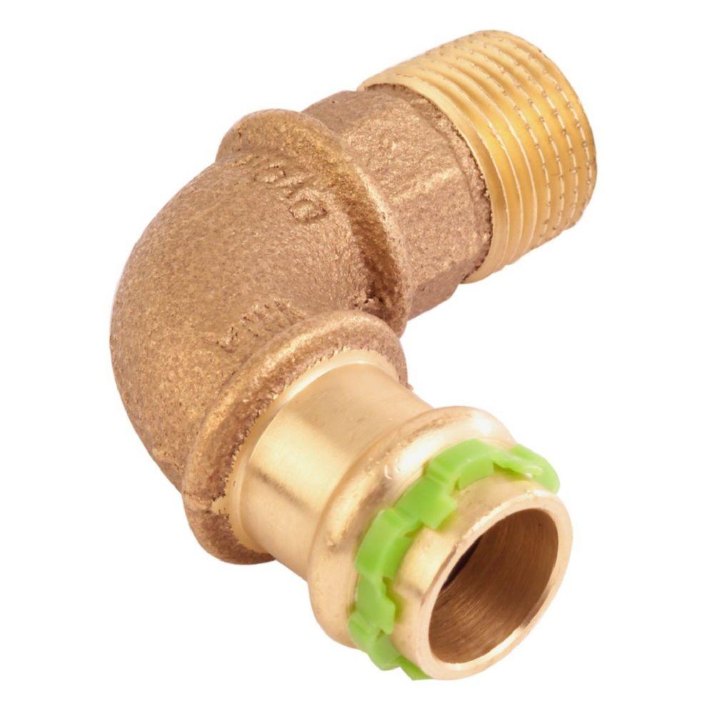 Comap coude à sertir 90 degrés - tube cuivre - femelle 16 mm / mâle à visser 15 x 21 mm - comap sudopress eau