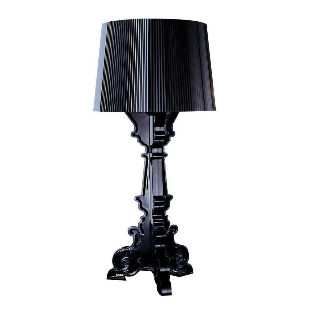 Kartell BOURGIE - Lampe à poser Noir translucide H68-78cm