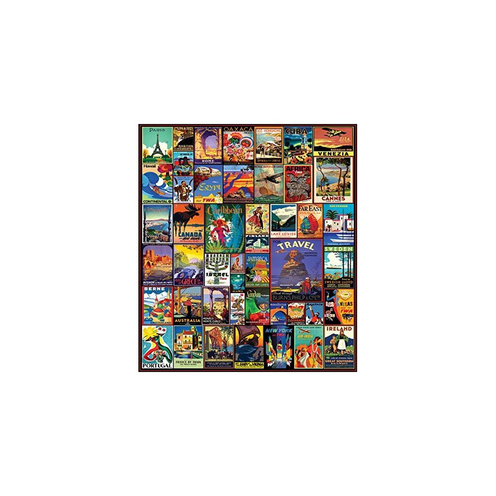 White Mountain Puzzles White Mountain Puzzles Travel The World - 550 Piece Jigsaw Puzzle
