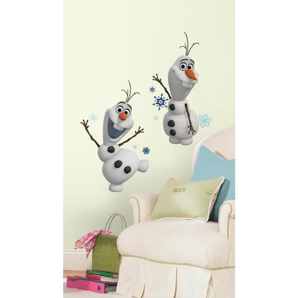 Mon Beau Tapis FROZEN OLAF - Stickers repositionnables géants Olaf de la Reine des neiges, film d'animation Disney