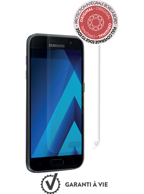 Force Glass - Verre trempé Galaxy A5 2017 - Transparent - Protection écran smartphone