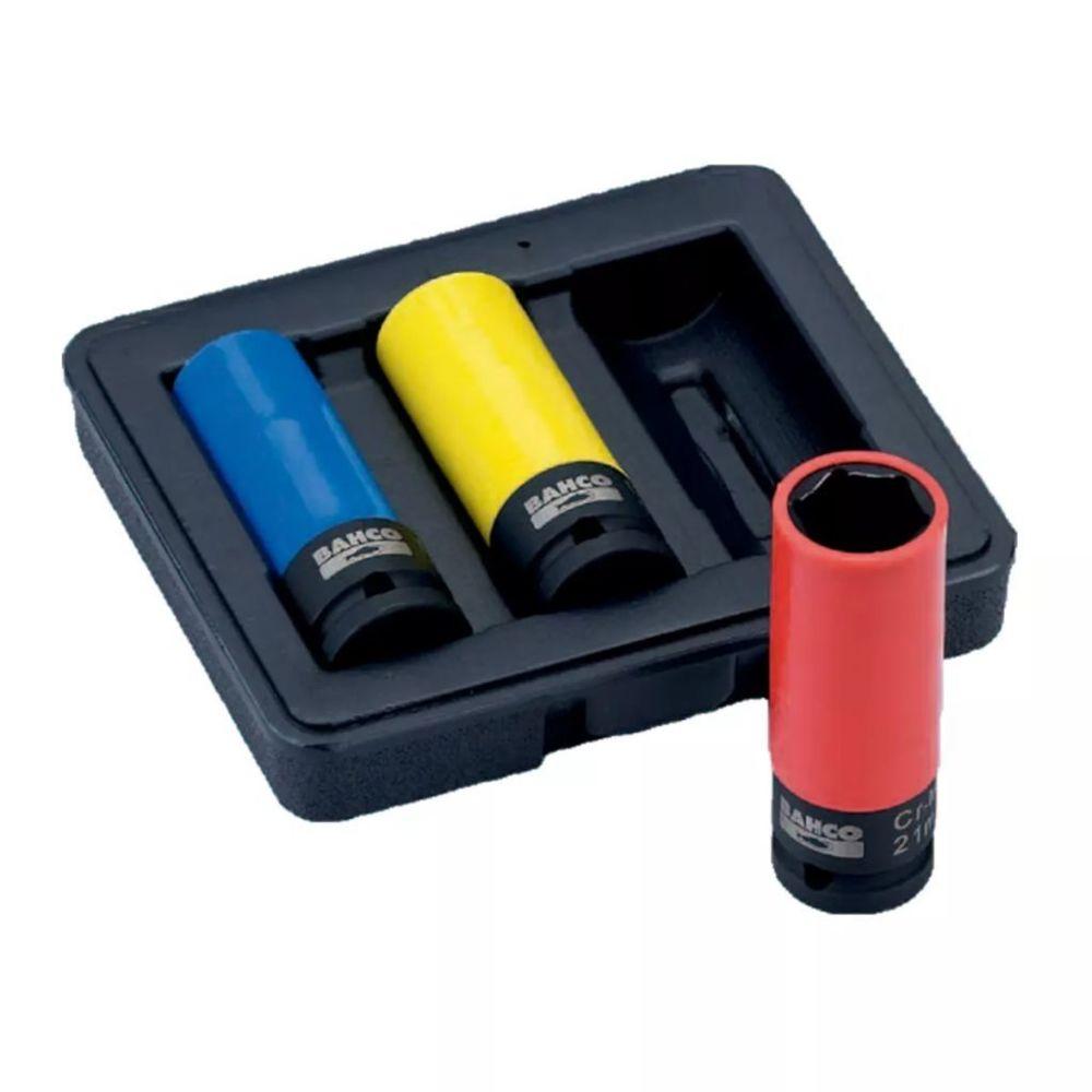 Bahco BAHCO Set de 3 douilles à choc 17/19/21 mm BWSS12P3