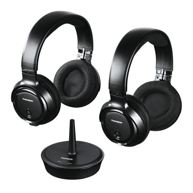 Thomson - Kit casque sans fil TVWHP3203D - Noir - Casque audio