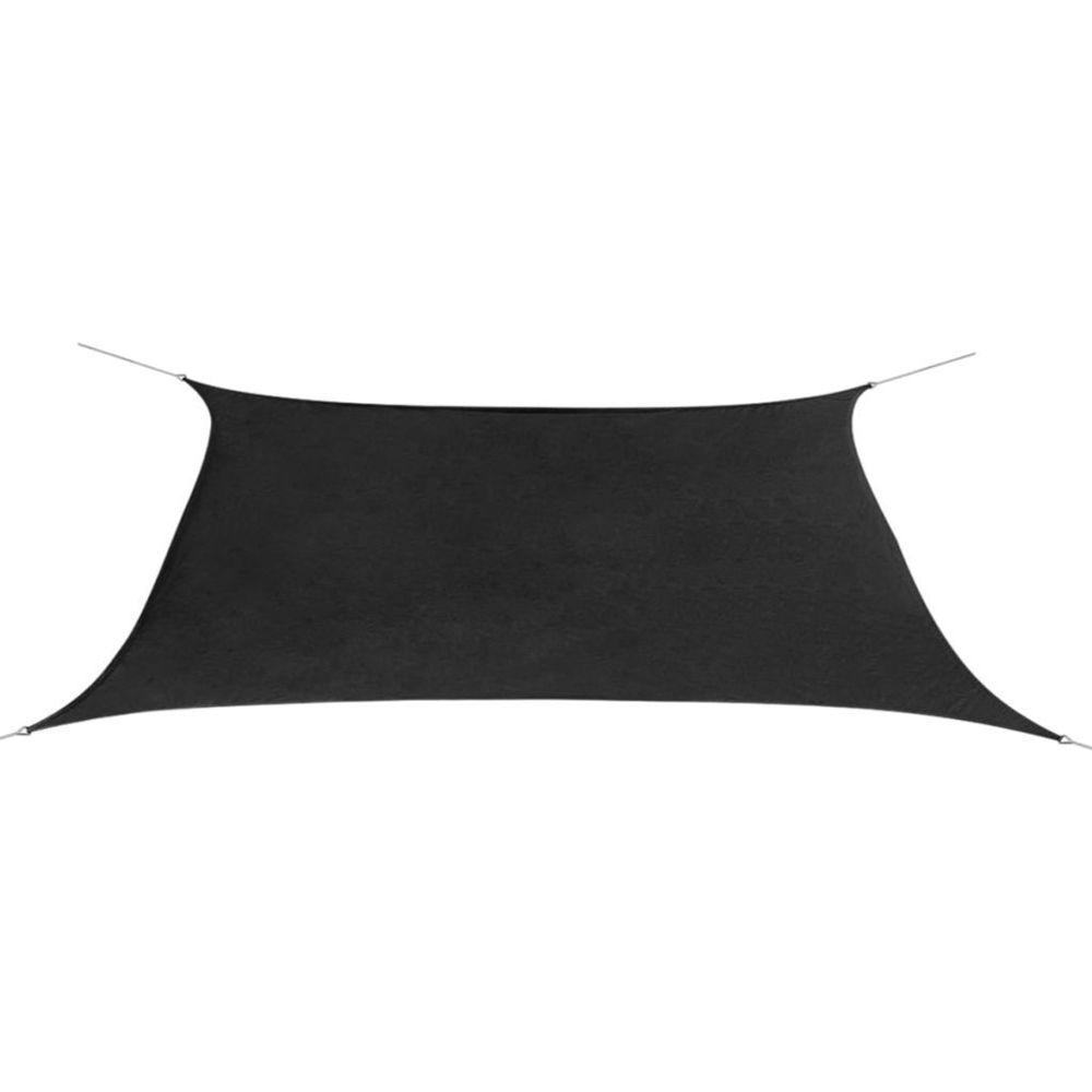 Vidaxl Parasol en tissu Oxford rectangulaire 2x4 m Anthracite | Noir