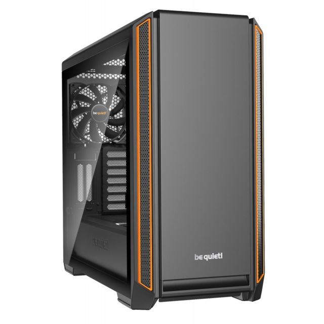 Be Quiet - Silent Base 601 - E-ATX - Noir/Orange - Sans fenêtre Be Quiet   - Boitier PC et rack
