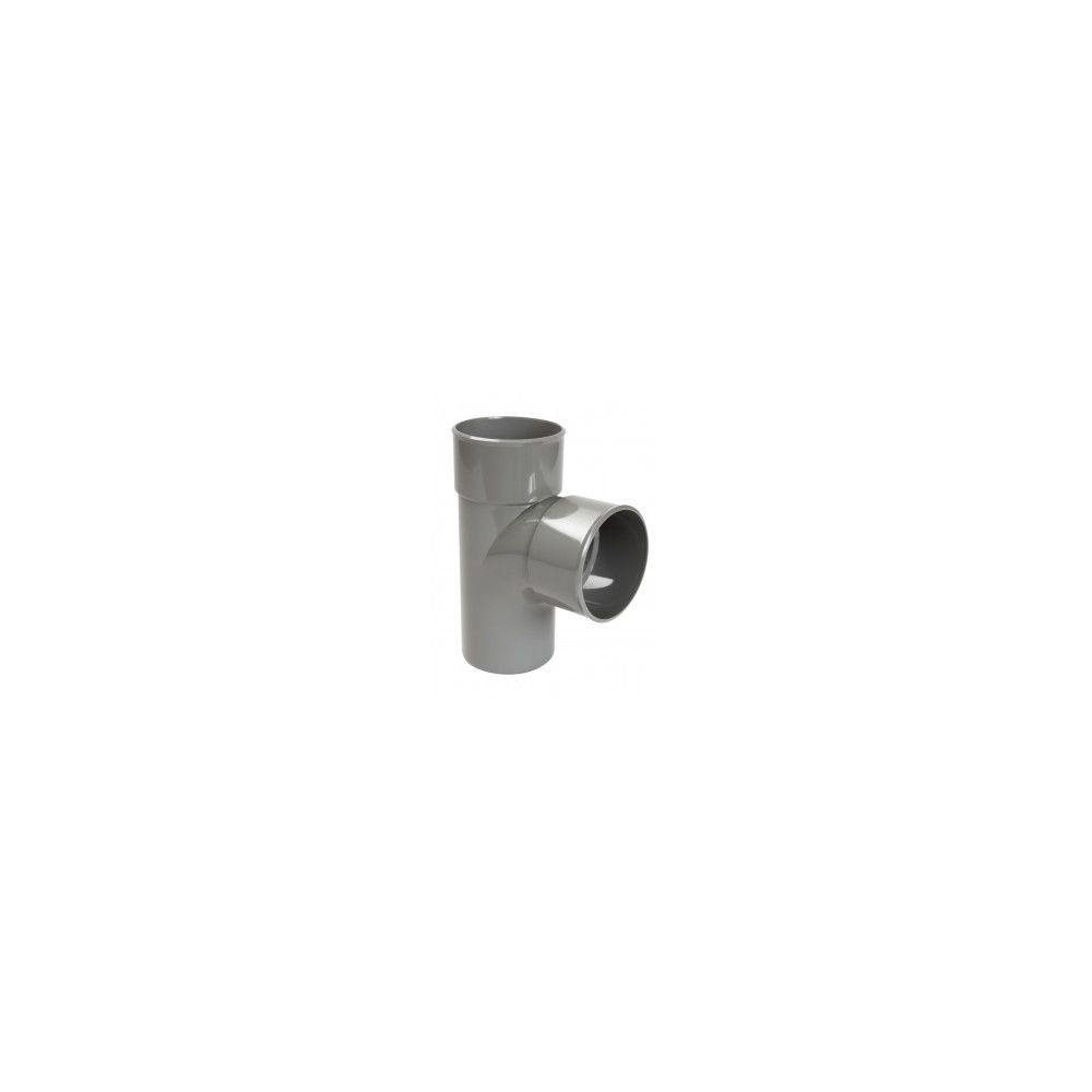 Nicoll Culotte simple 87°30 MF PVC pour tube d'évacuation gris - Ø 125 mm