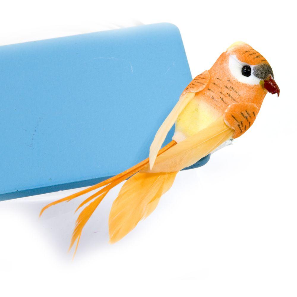 Visiodirect Lot de 20 Perruches sur pince Coloris Orange - 7 cm