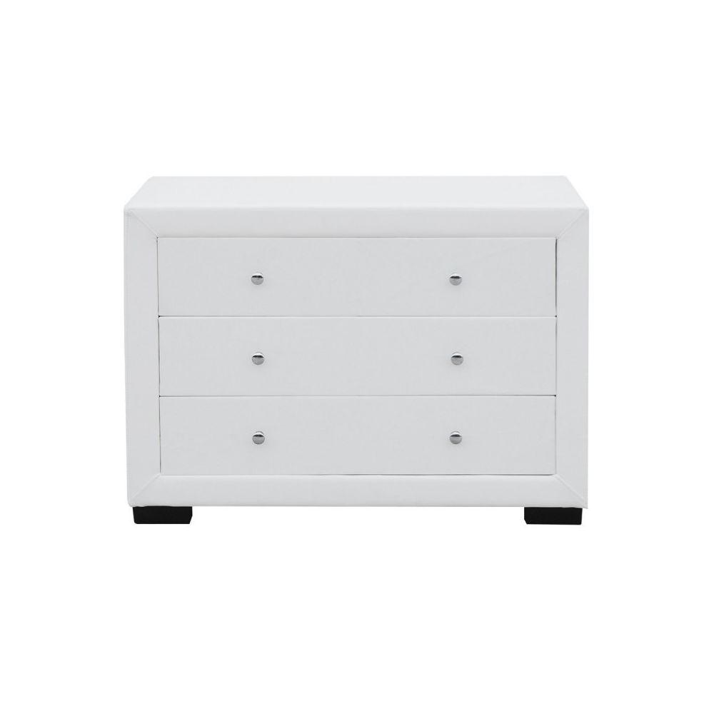 Meubler Design Commode chambre à coucher design EVA - Blanc