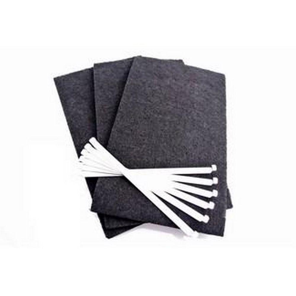 Fagor Lot de 3 filtres charbon (avec tiges de fixation)