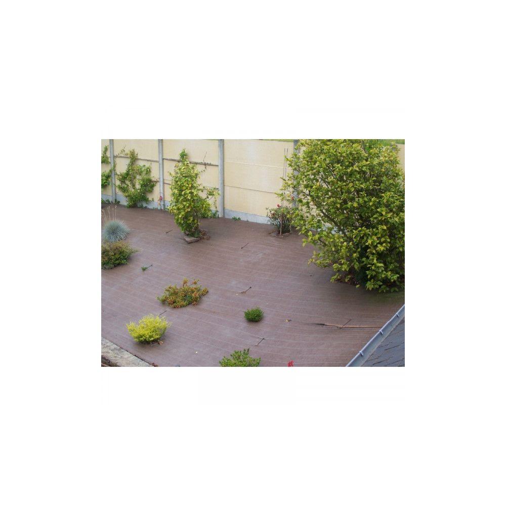 Vilmorin Toile de paillage tissée 90 g / m² 1.6m x 20m marron