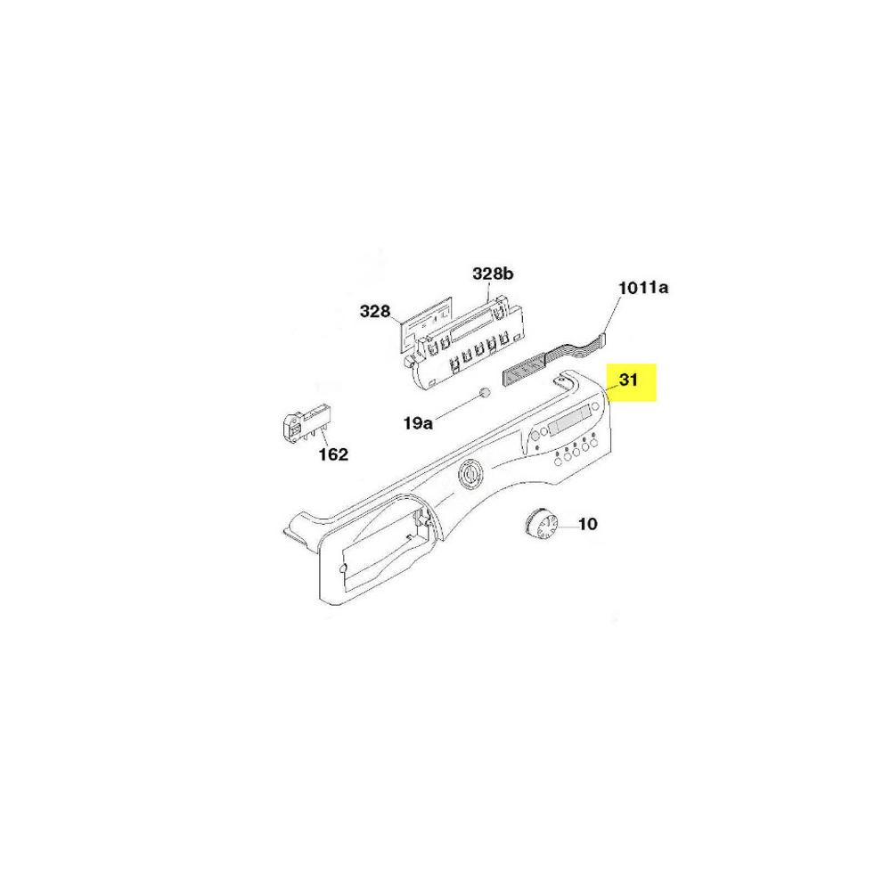 Hoover BANDEAU TABLEAU DE BORD POUR LAVE LINGE HOOVER - 41031423