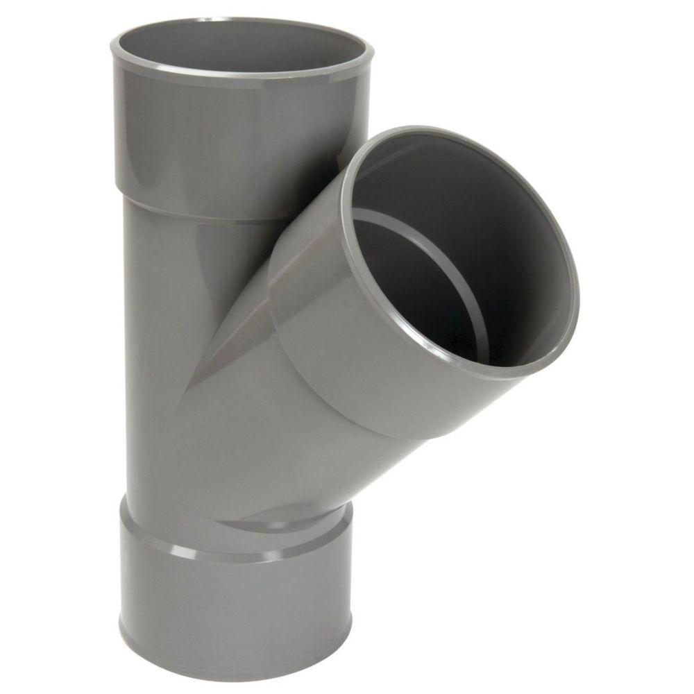 Nicoll culotte simple pvc - femelle / femelle - 45 degrés - diamètre 160 mm - nicoll bz144