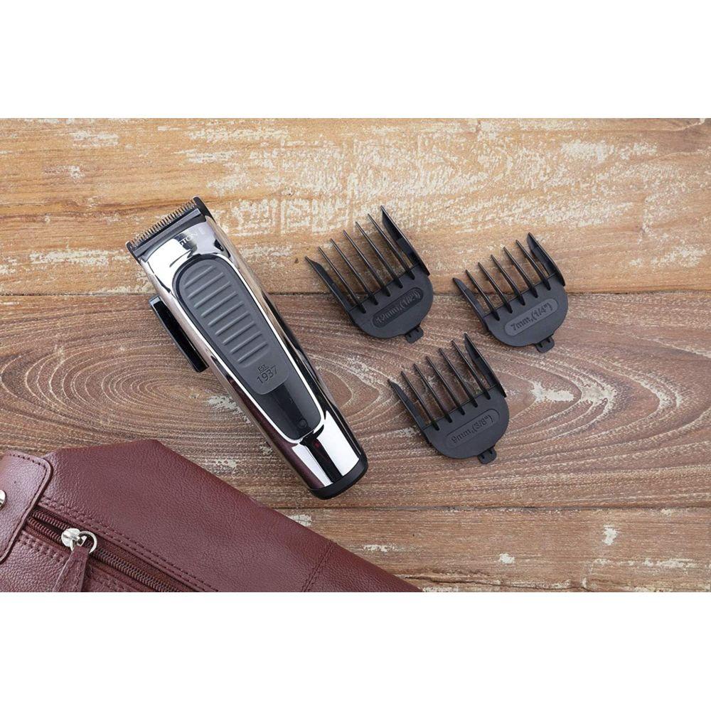 Remington Coffret Premium Tondeuse a Cheveux avec Lames Inox Auto-Affutées et 8 Guides de Coupe gris noir