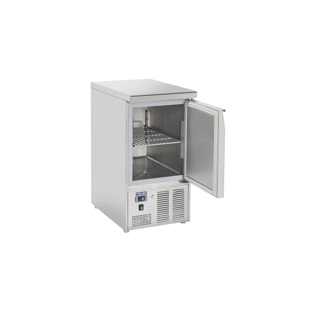 Materiel Chr Pro Table Réfrigérée Positive Couvercle Inox 215 L - 1 Porte GN 1/1 - Cool Head -