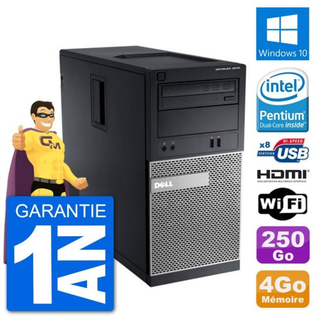 Dell - PC Dell 3010 MT G2020 RAM 4Go Disque Dur 250Go HDMI Windows 10 Wifi - PC Fixe Pc tour