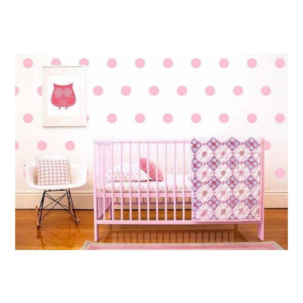 Homemania HOMEMANIA Sticker Polka Dots - Cercle - pour les enfants - au mur - Rose en Vinyle, 20 x 0,2 x 27 cm