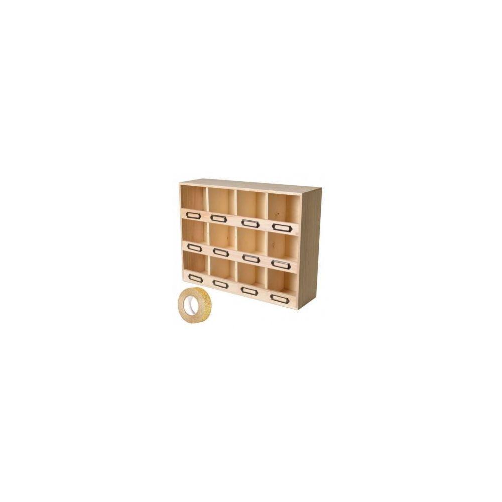 Marque Generique Casier De Rangement Bois 12 Cases Masking Tape Dore A Paillettes 5 M Offert Decorations De Noel Rue Du Commerce